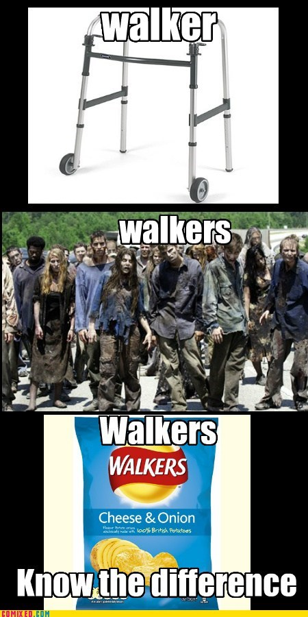 chips,walkers,The Walking Dead,puns,zombie