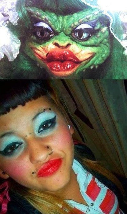 makeup,who wore it better,gremlins,poorly dressed,g rated
