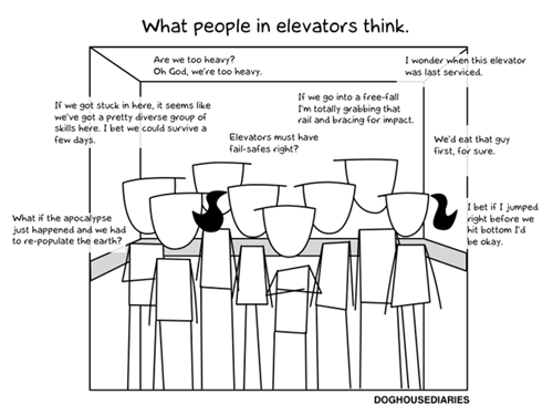 elevators,doghouse diaries,comics
