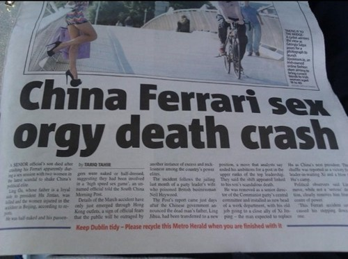 China ferrari death crash Good Times wat - 7140530176
