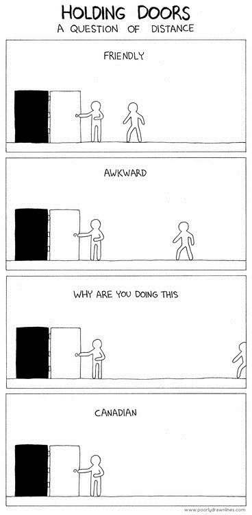 Canada,door,Awkward,comic