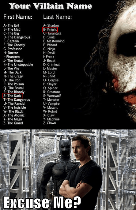 the joker the dark knight christian bale heath ledger - 7140683776