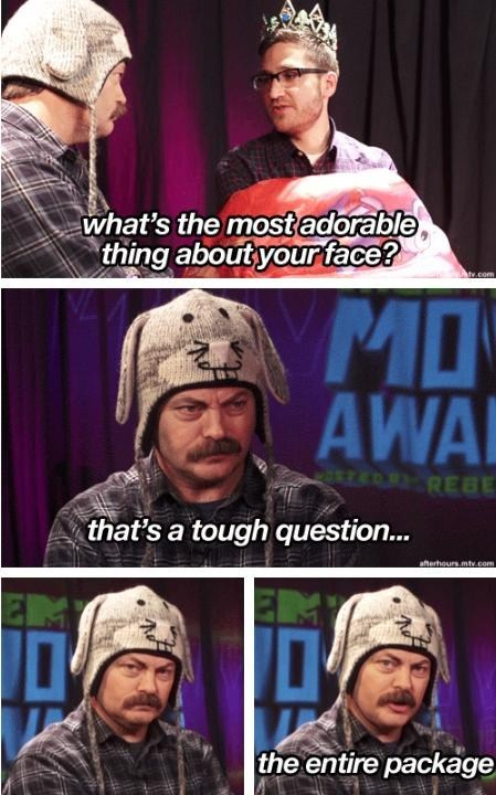 adorable,Nick Offerman,entire package