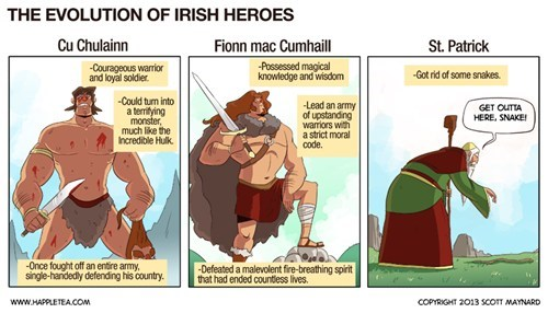 St Patrick's Day,comics,happle tea,catholics,after 12 irish heroes