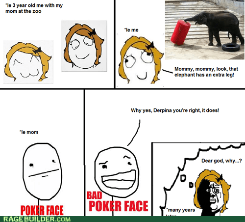zoo,parenting,bad poker face,elephants,oh god why