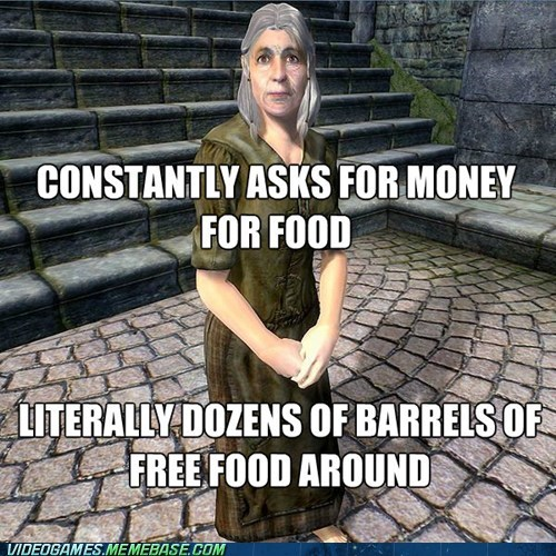 elder scrolls,video games,video game logic,Skyrim