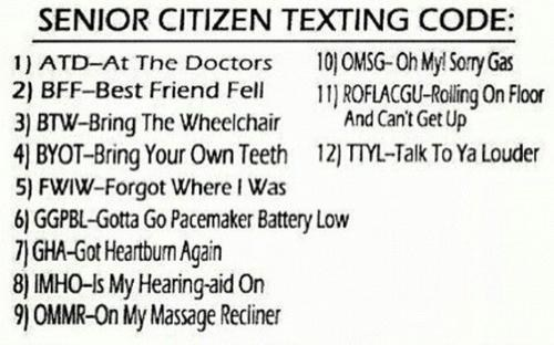 seniors grandparents textspeak
