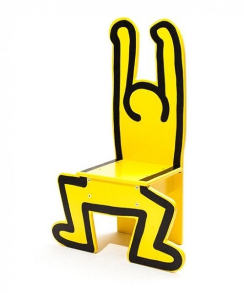 chair,furniture,keith haring,children