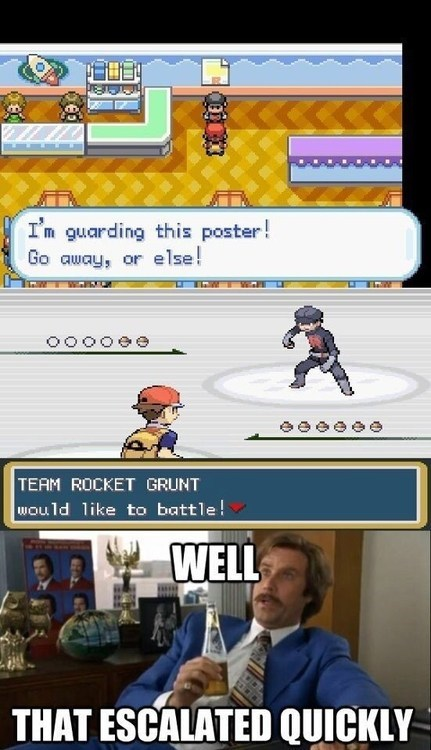that escalated quickly Team Rocket gameplay Memes - 7141065984