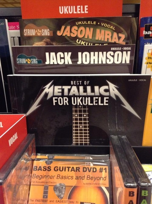 metallica,sheet music,ukuleles,Music FAILS,g rated