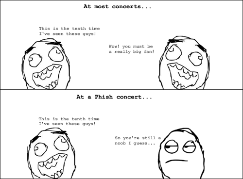 concerts,phish,Rage Comics