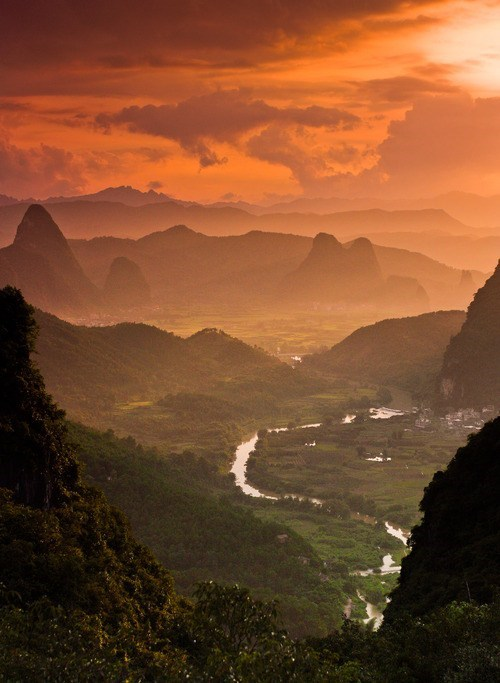 China,landscape,mountains,sunset,destination WIN!,g rated