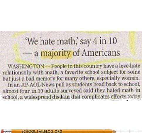 america idiots ratio math - 7141709824