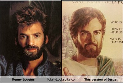 jesus,totally looks like,kenny loggins