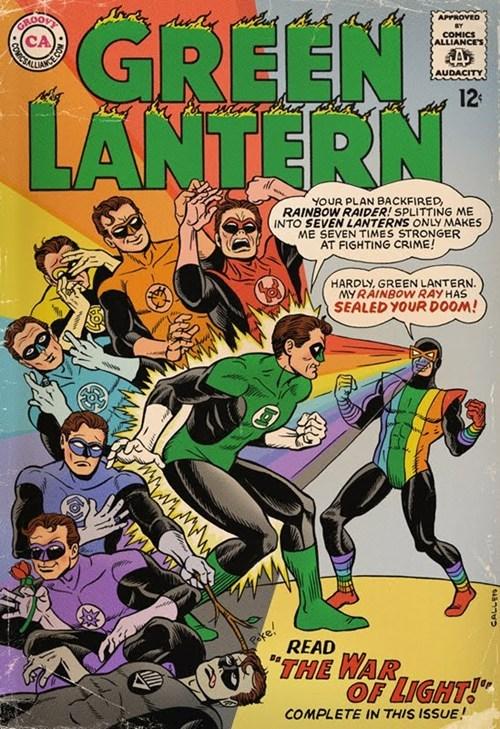 art rainbow man Green lantern - 7143240192