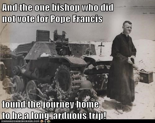 the pope,bishops,tanks,catholics