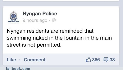 police department skinny dipping fountain failbook g rated - 7143612672