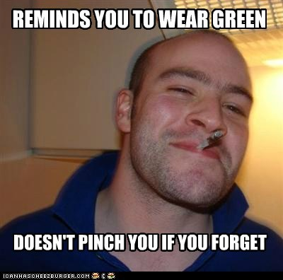 green,St Patrick's Day,Good Guy Greg