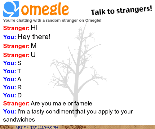 mustard,Omegle,ketchup