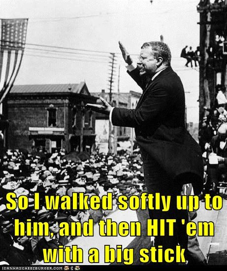 Theodore Roosevelt attack president