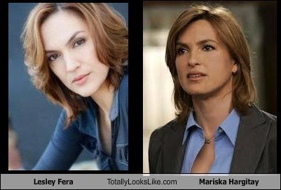 lesley fera,totally looks like,Mariska Hargitay