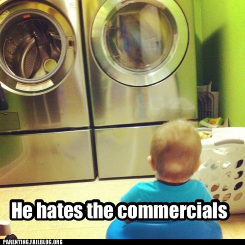 laundry,washing machine,TV,commercials