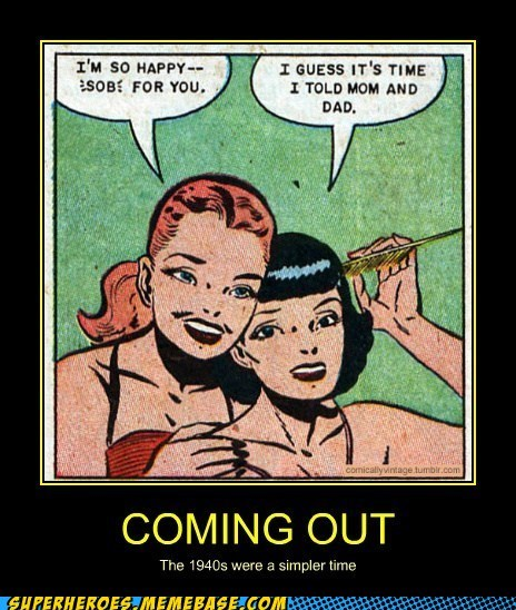 coming out the 40s simple old comics - 7145042432