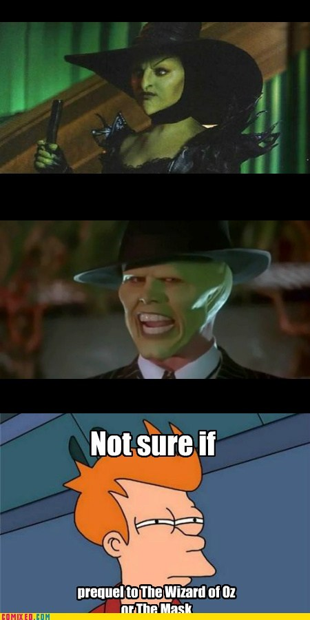 the mask,Witches,troll face,futurama,fry,wizard oz