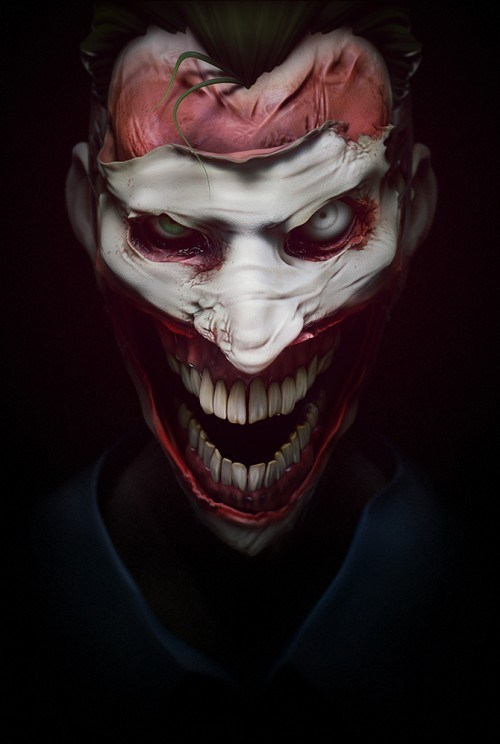 face,joker,art,creepy