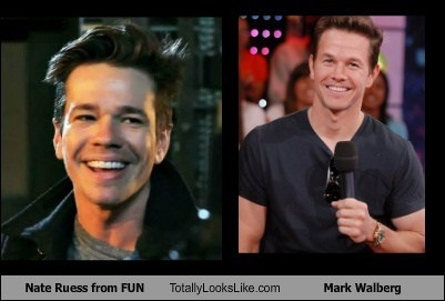 fun nate ruess totally looks like Mark Wahlberg