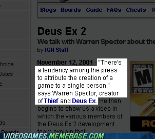 the press warren spector IGN dues ex 2 - 7145888000