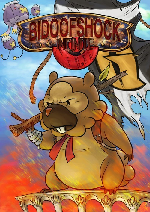crossover,Pokémon,bioshock infinite,bidoof,destructoid,bioshock