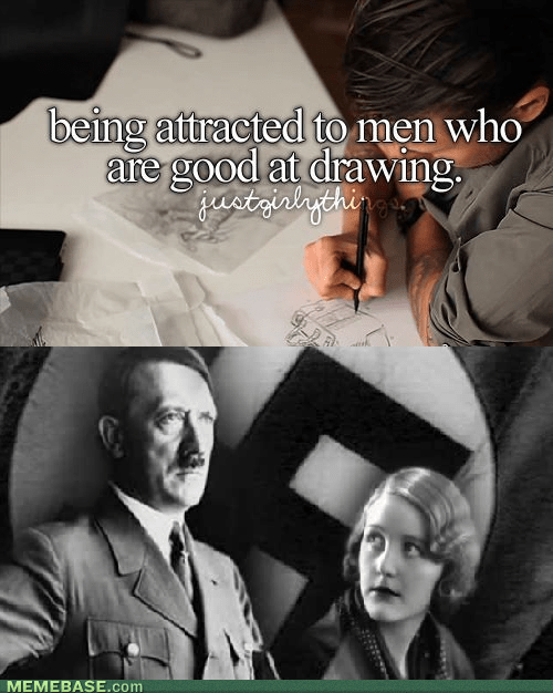 just girly things,things boys do,hitler