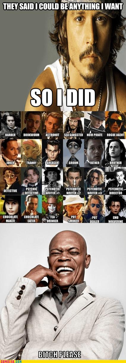 Reframe acting Samuel L Jackson Johnny Depp - 7146818560