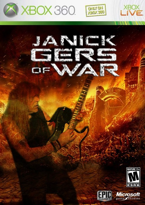 x-box Gears of War iron maiden video games
