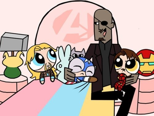 art powerpuff girls avengers - 7147231744