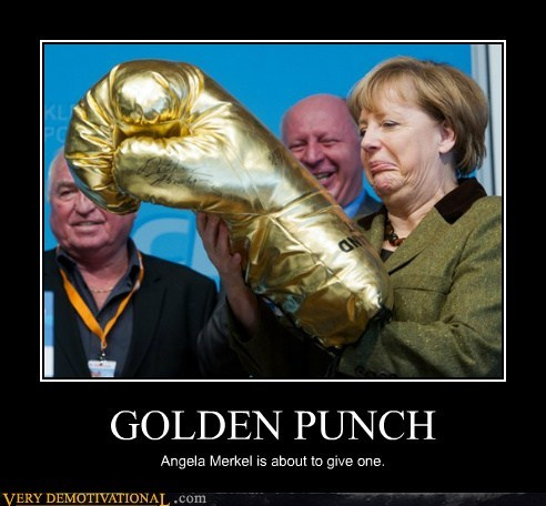boxing glove angela merkel gold - 7147238912