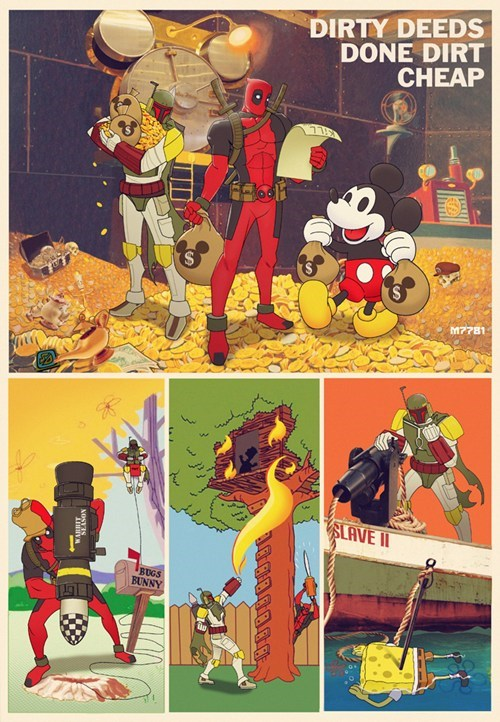 mickey mouse deadpool cheap boba fett - 7147739136