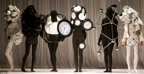 wtf,clocks,runway fashion