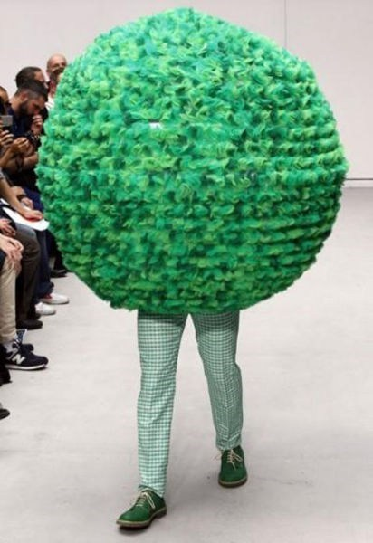 wtf,runway fashion,bushes