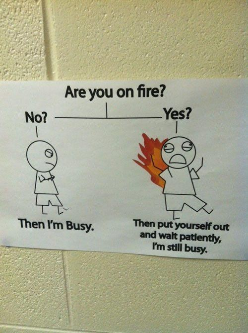 flowchart fire busy - 7147859456