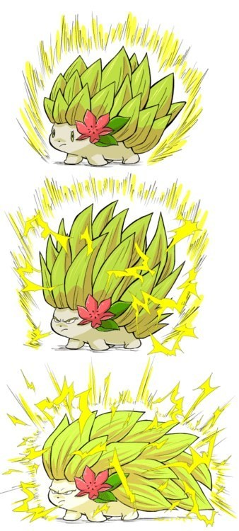 Pokémon super saiyan shaymin Dragon Ball Z - 7147955456