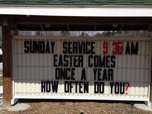 easter sundays poor wording church - 7147996672