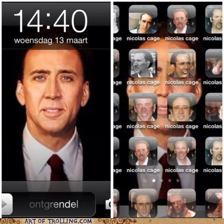 phone trolling,phone background,nicolas cage,iphone