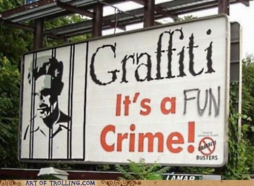 fun crime graffiti - 7148016896