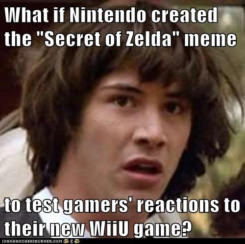 legend of zelda conspiracy keanu video games