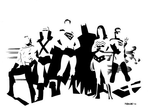 JLA,art,awesome,minimalism
