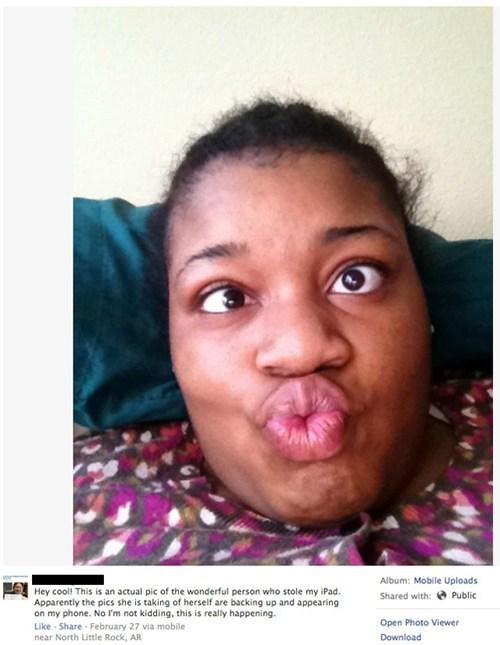 stolen ipad,selfie,iCloud,thief,failbook