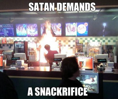 satan puns sacrifice snacks - 7148119552