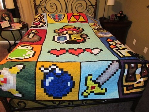 bedspread,IRL,blankets,zelda